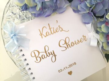 Baby Shower Guest Book Blue